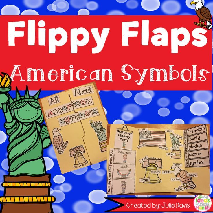 American Symbols Activities Interactive Notebook Lapbook First