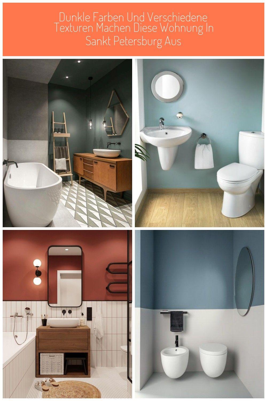 Dunkle Wandfarbe Badezimmer Freistehende Badewanne Leiter Interiordesign Badezimmer Farbe Diese Zeitgenossische Wohnung Paart Gekonnt Farben U In 2020 Bathroom Toilet