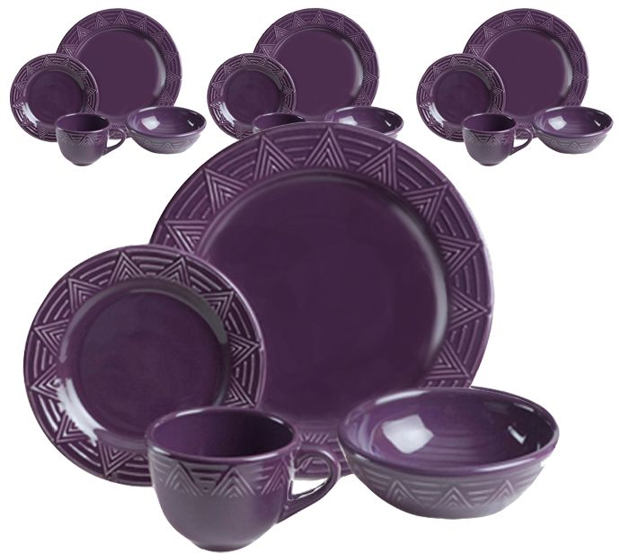 Aztec Dinnerware Pattern - Eggplant - Aztec 16 piece Dinnerware Set - Eggplant-MADE IN  sc 1 st  Pinterest & Aztec Dinnerware Pattern - Eggplant - Aztec 16 piece Dinnerware Set ...