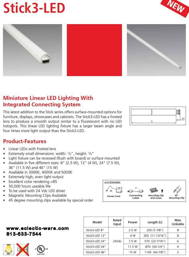 Hera Lighting Stick3 Led Linear Lights Cabinet