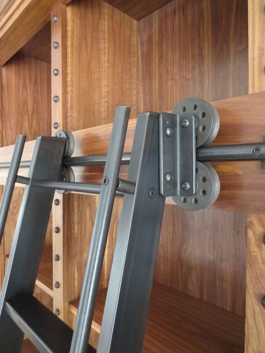 Custom Steel Rolling Library Ladder By Andrew Stansell