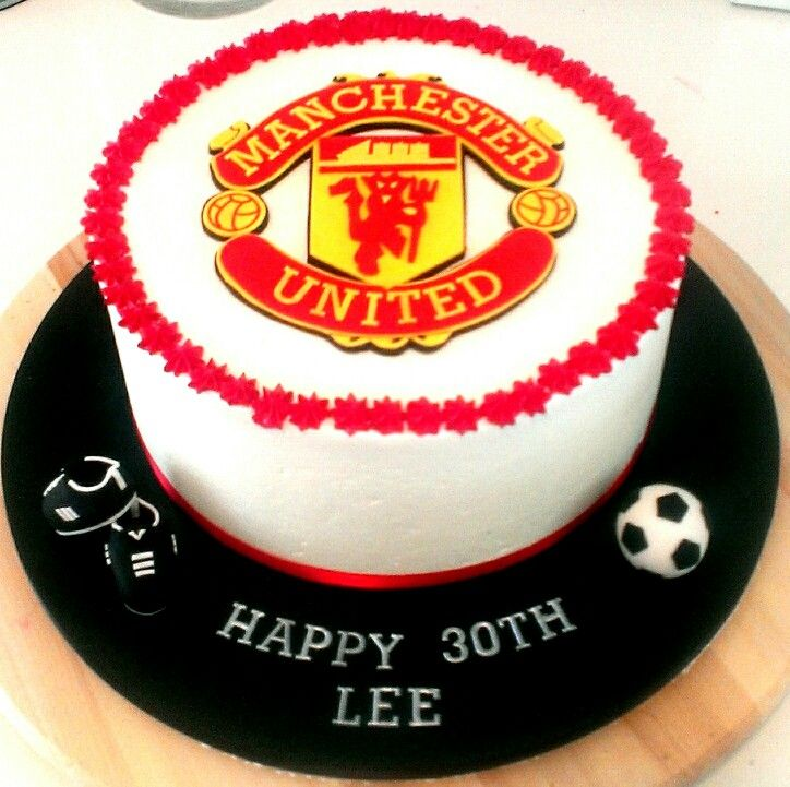 Manchester United Soccer Cake Cartoon Cake Birthday Party Cake