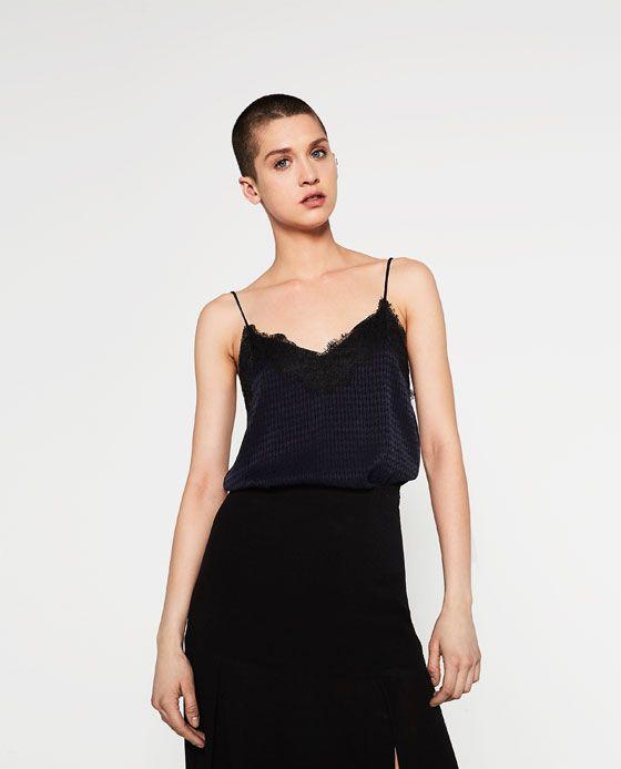 Cuerpo Lencero Jacquard Ver Todo Mujer Ultima Semana Fashion Tops Tops Womens Tops