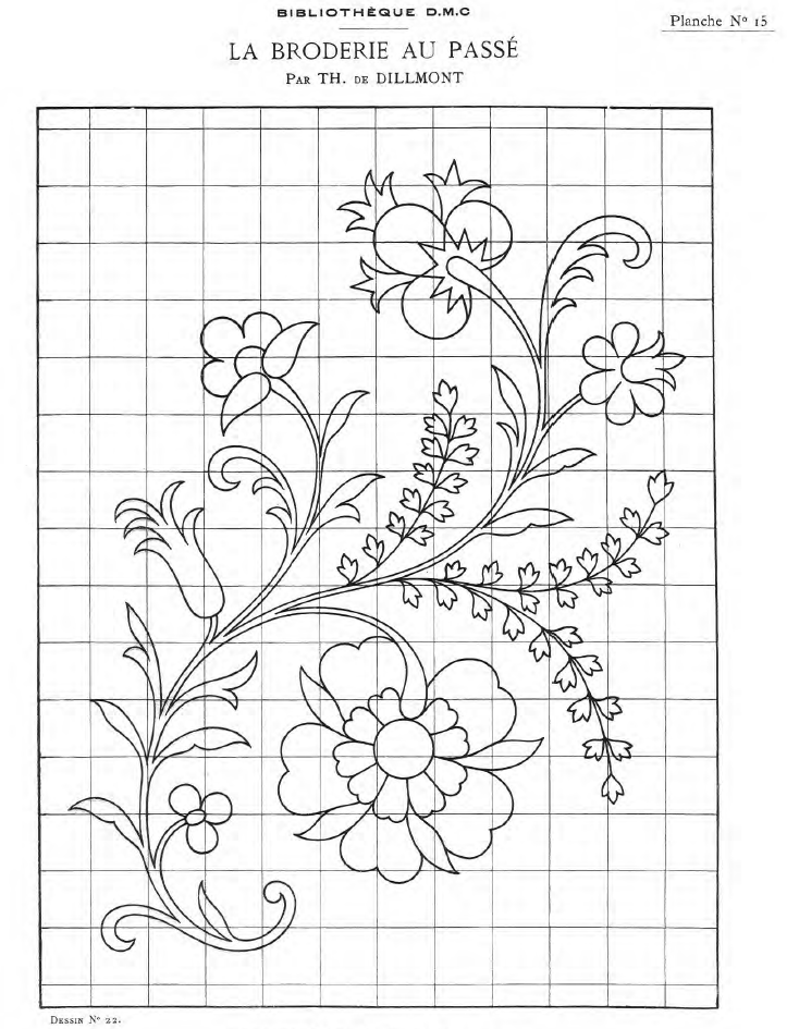 Bibliotheque Dmc La Broderie Au Passe 3 Of 3 With Designs And Patterns 21pages Embroidery Patterns Beadwork Patterns Crewel Embroidery