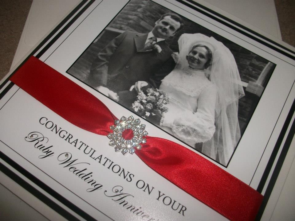 Personalised Ruby Wedding Anniversary Card By Wow I Like That