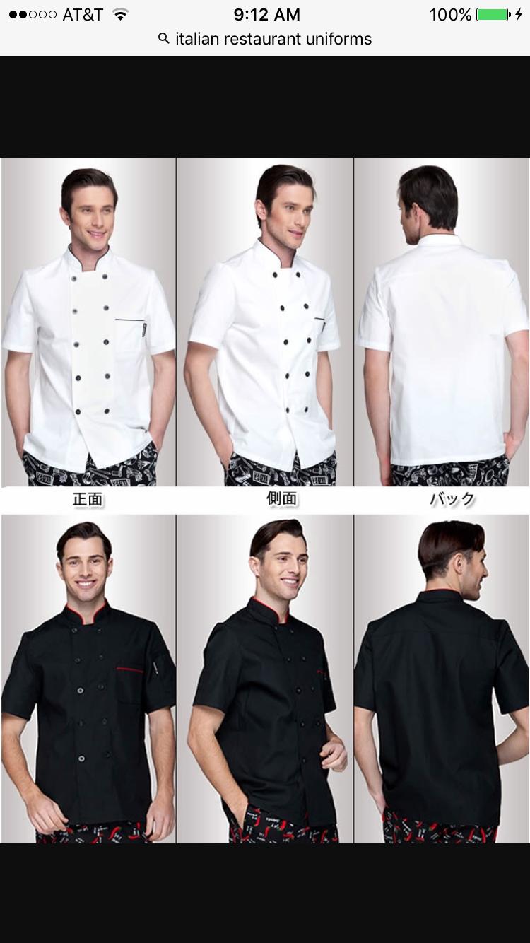 f27d1f4fb Italian restaurant uniforms | The great Italian Taste | Restaurant ...