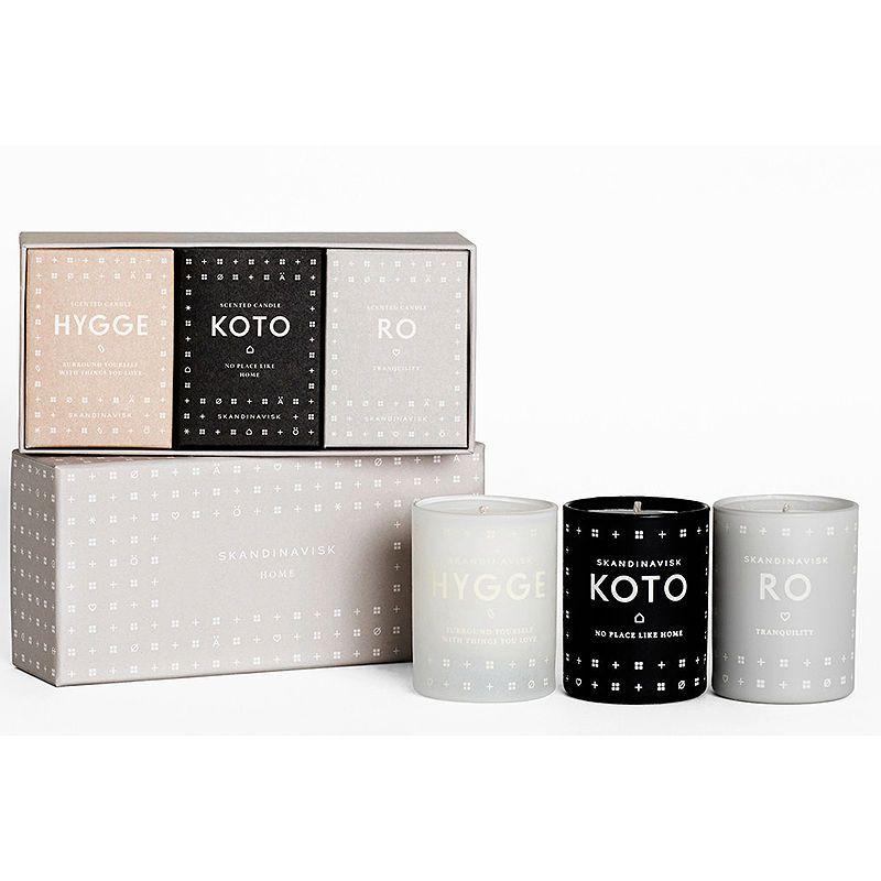 top3 by design - Skandinavisk - home candle set koto ro hygge