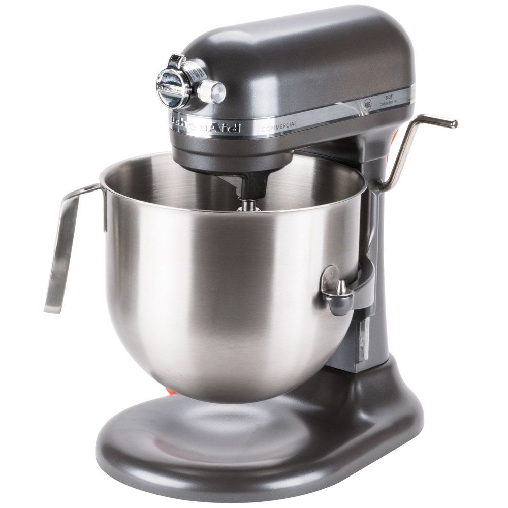 KitchenAid KSM8990DP Dark Pewter NSF 8 Qt. Bowl Lift Commercial ...