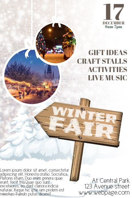 Winter Fair Christmas Fair Flyer Template  Postermywall  Free