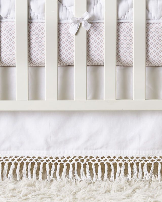 Macramé Crib SkirtMacramé Crib Skirt
