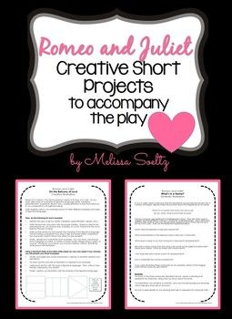 romeo and juliet creative short projects teaching ideas pinterest. Black Bedroom Furniture Sets. Home Design Ideas