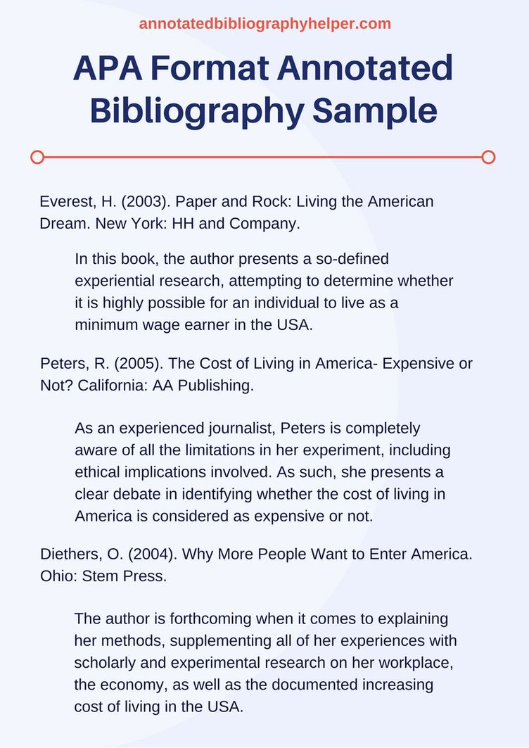 Apa Bibliography Sample