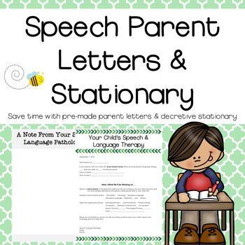 Speech Parent Letters U0026 Stationary