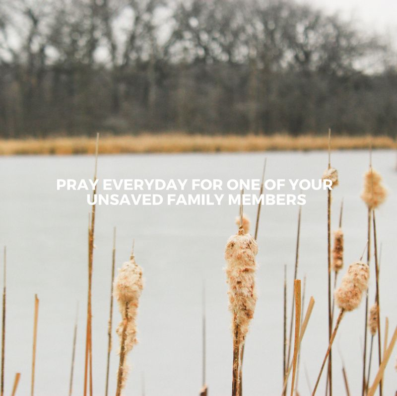 January's challenge of praying for one of our unsaved family members everyday.