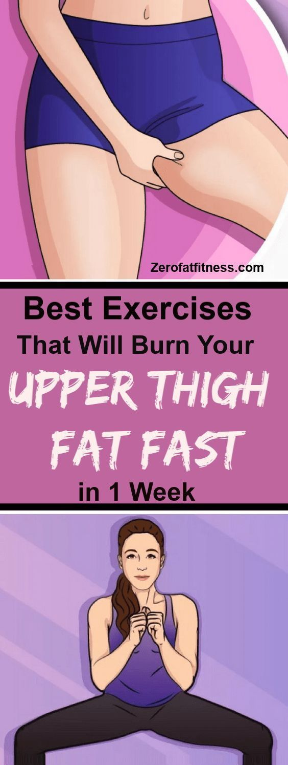 Easy Exercises to Lose Upper Thigh Fat in 7 Days at Home #exercisesforupperback