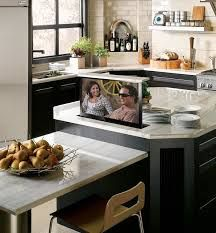 Pop Up Tv In Kitchen Island Lglimitlessdesign Contest Tv In Kitchen Hidden Kitchen Kitchen
