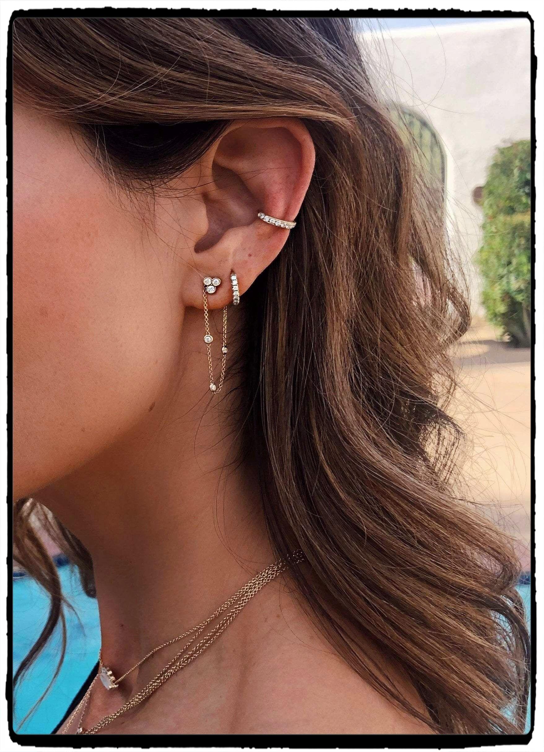 Super oorbellen 2 gaatjes,oorbellen piercing,oorbellen maken,oorbellen SS-82