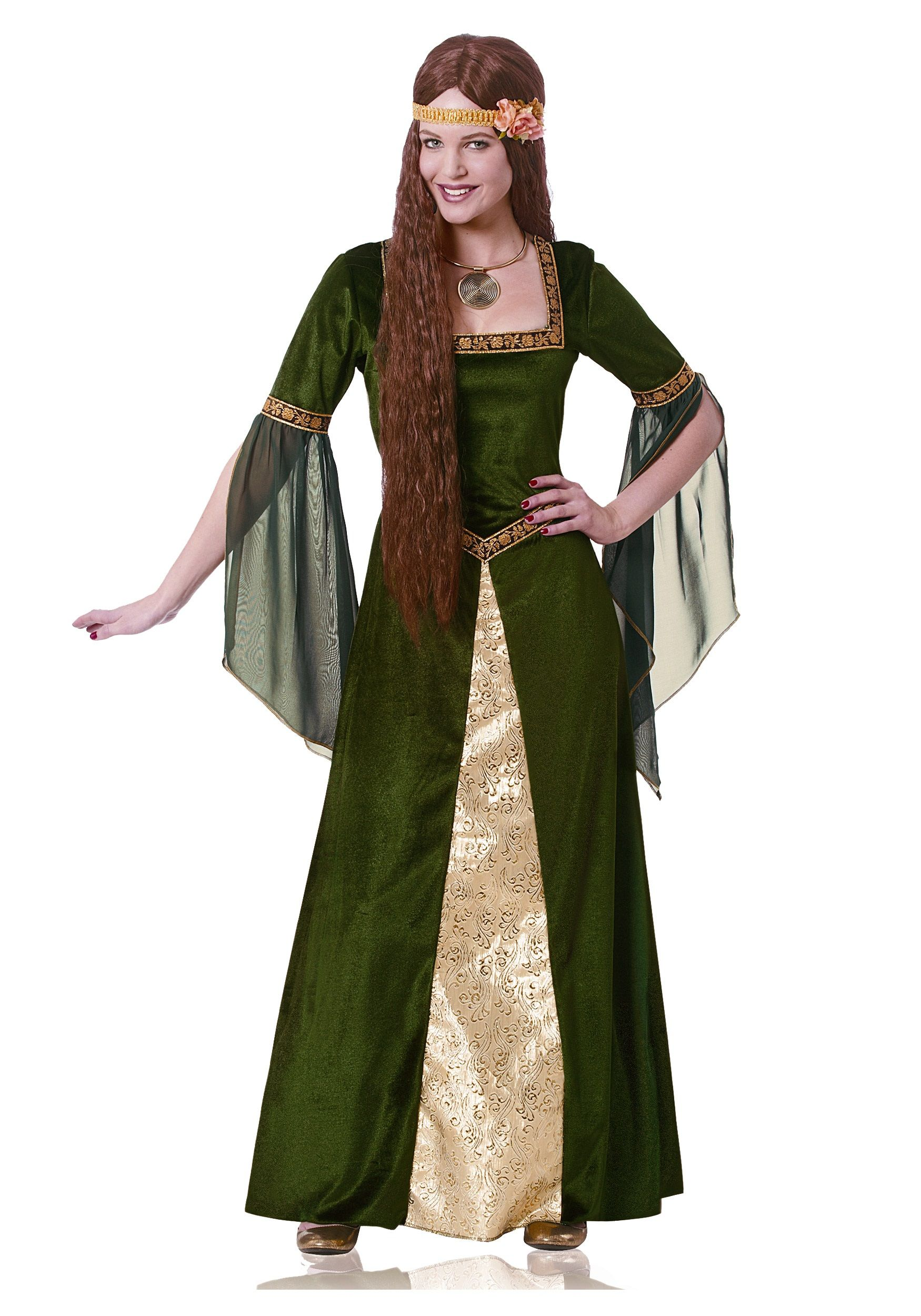 Adult Green Renaissance Lady Costume | Ladies costumes ...