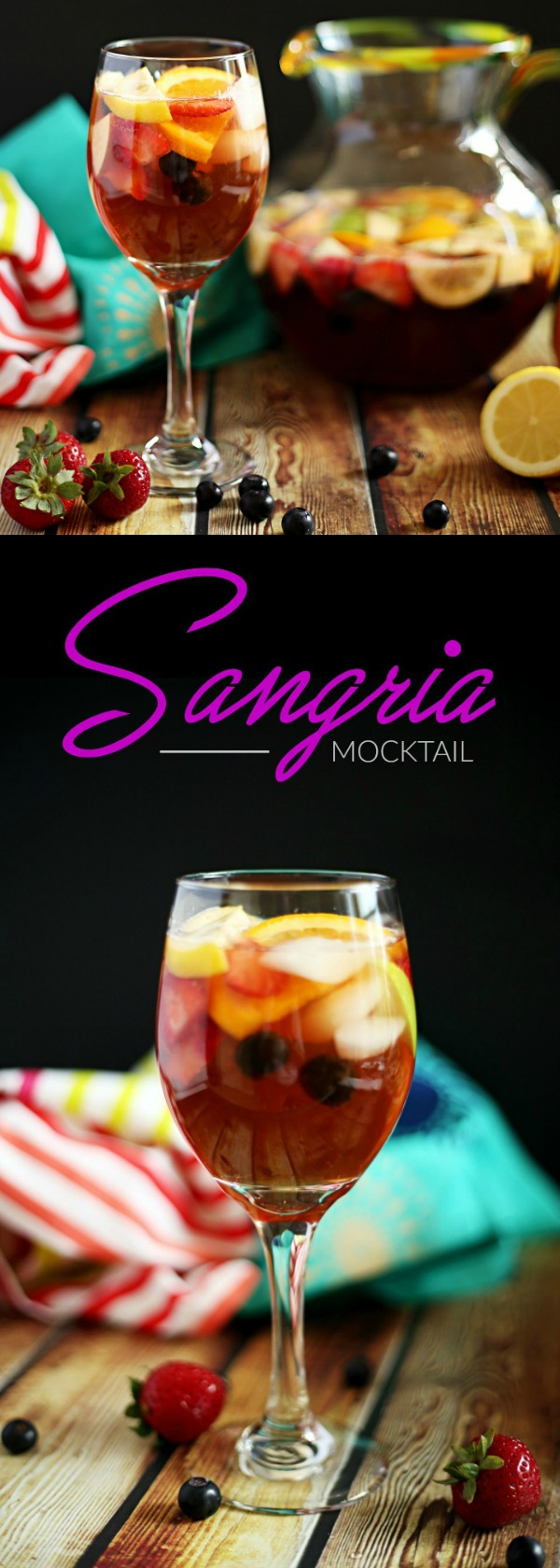 Non-Alcoholic Sangria #nonalcoholicbeverages