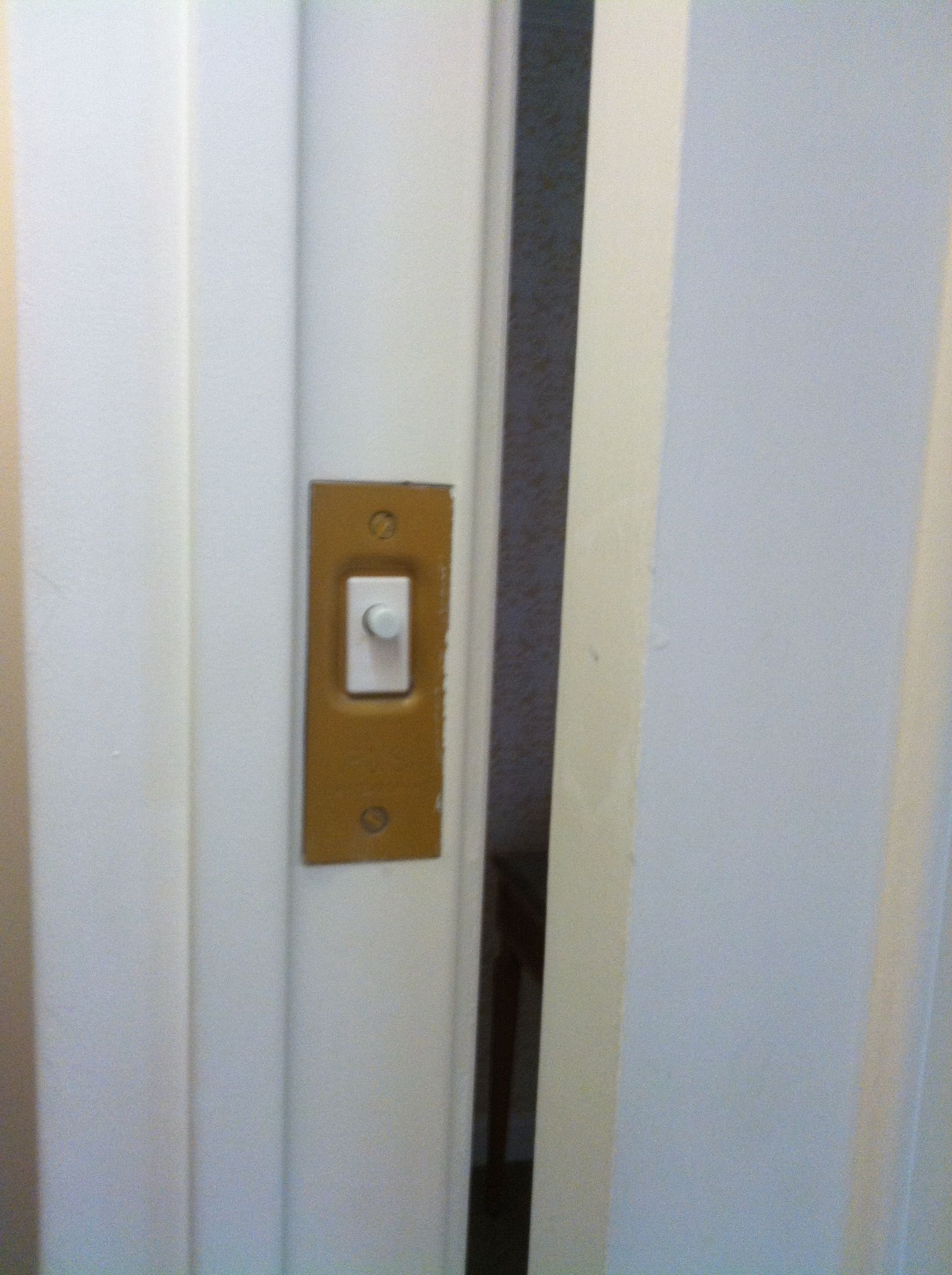 This Is A Light Switch In The Door Jam So When To