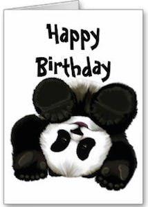 Panda Bear Birthday Card Panda Birthday Cards Panda Card Panda Birthday