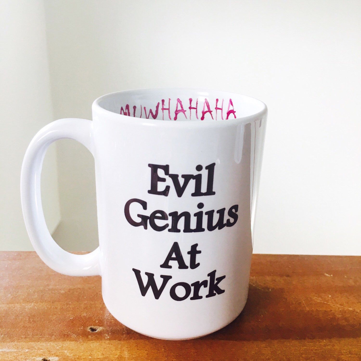 Coffee cups funny - Evil Genius Coffee Cup Funny Coffee Mug By Simplyglassic On Etsy Https Www