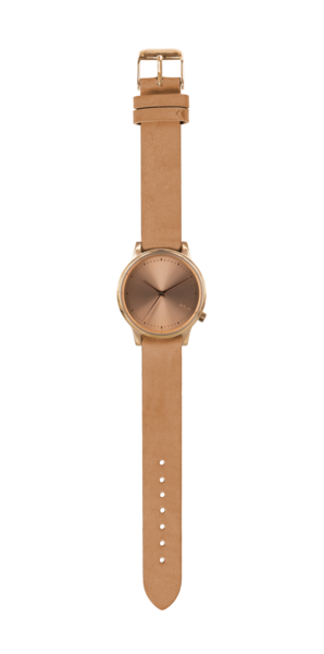 The Estelle is a new Komono watch with a leather wristband.