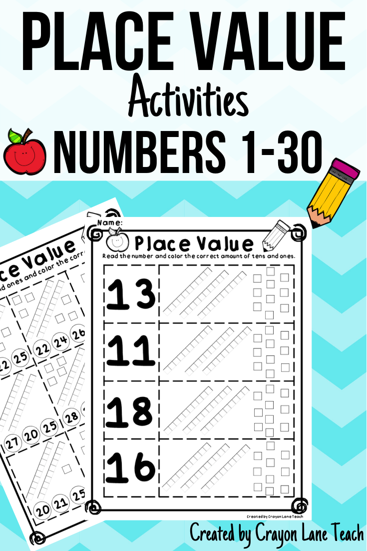 Place Value Activities Numbers 1 30 In 2021 Place Value Worksheets Place Values Place Value Activities [ 1102 x 735 Pixel ]