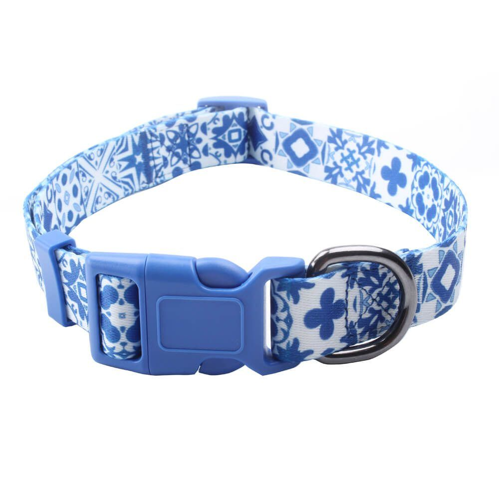 cbda2f2f3c4e basic dog collars: Polyester adjustable dog collars with custom logo  supplies
