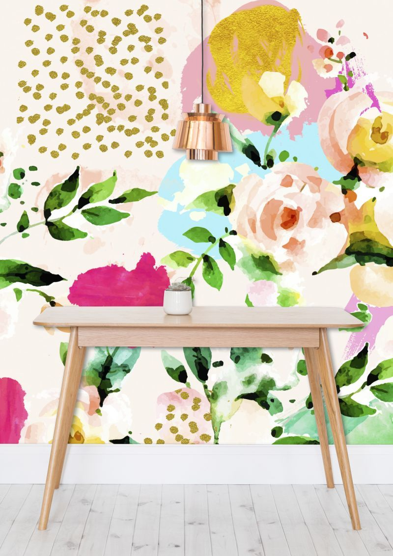 'Floral Blush' Wallpaper @mipic_app #mipic #wallpaper #decor #wallart #interiorstyling