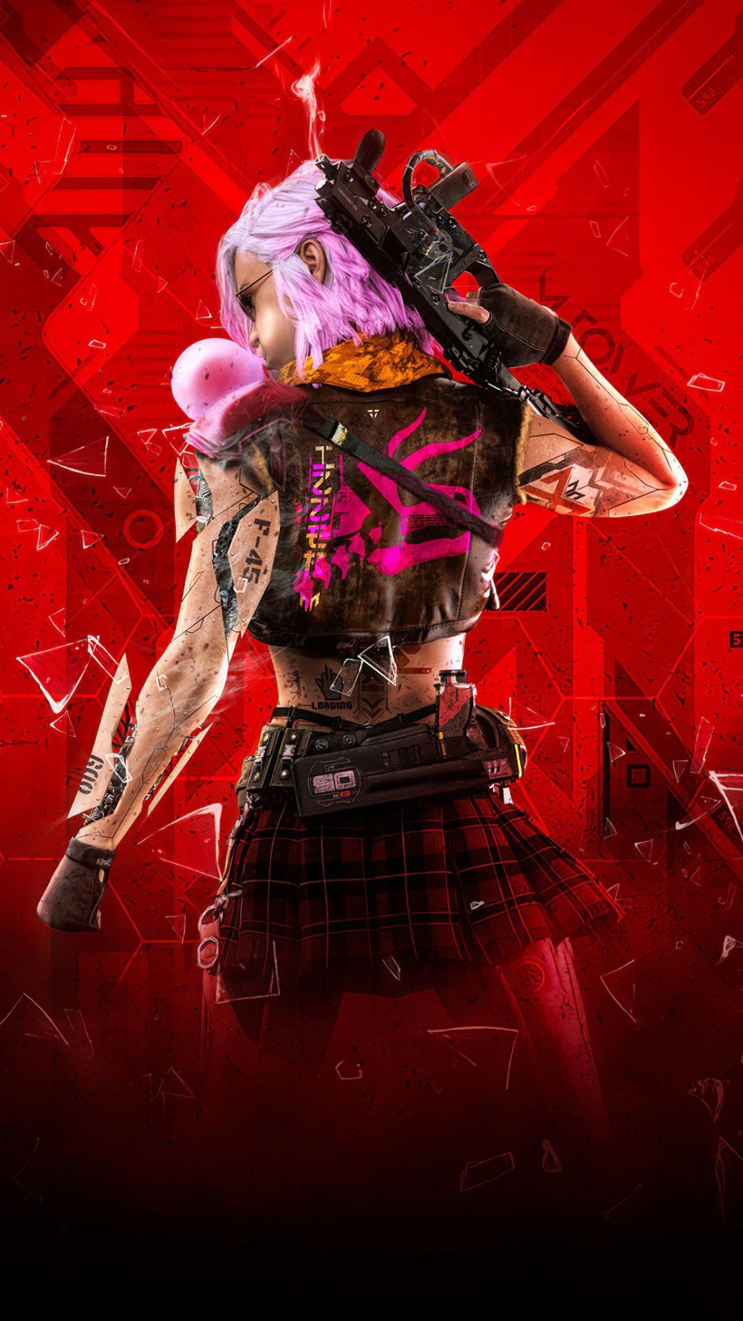 1080x1920 Cyberpunk girl, video game, art wallpaper in