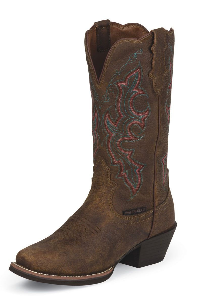 Justin Women S Brown Cowgirl Boots Classic Traditional
