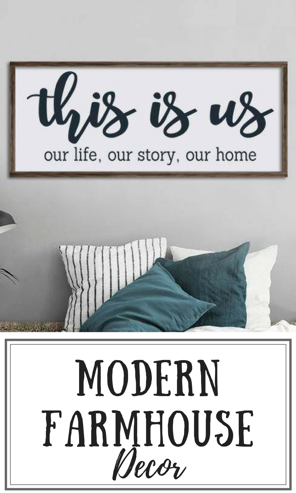 This is us home decor farmhouse sign gallery wall decor large framed