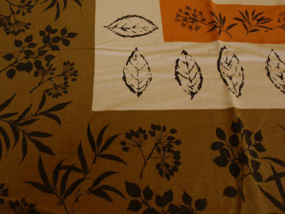 ViNTaGe TaBLeCLoTh MiD CEnTuRy MoDErN Russel Wright Style ...