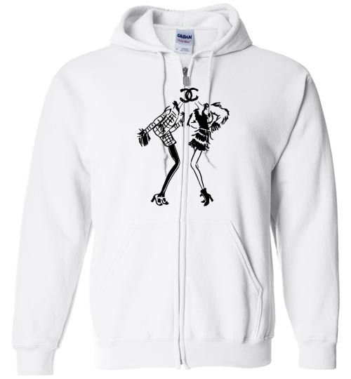 76b3914520a awesome Chanel Logo Unisex zip hoodie