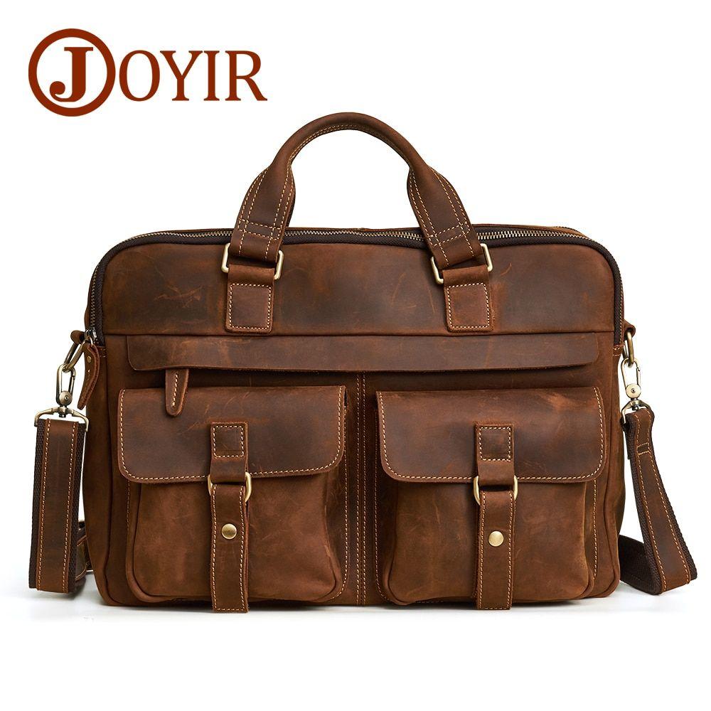 Joyir Men S Briefcase Bag Genuine Leather Leather Laptop Bag Business Computer Shoulder Bag Crossbody Messenger Handbag Male Bag Business Laptop Bag Leather Laptop Bag Laptop Bag