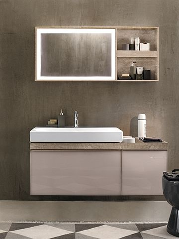 CITTERIO Meubles Point Deau Composables Cm - Meuble lavabo salle de bain allia