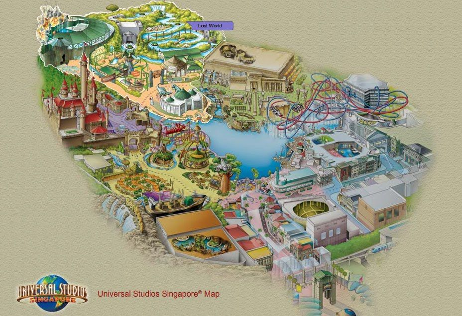 Universal Studios Singapore Map Universal Studios Singapore Theme Park Map Holiday In Singapore