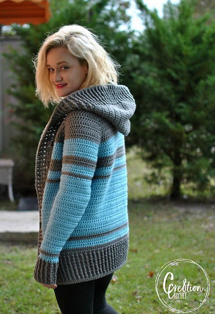 Keep Me Warm Cardigan pattern by Lorene Haythorn Eppolite- Cre8tion Crochet #crochetclothes