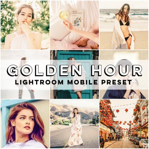 Mobile Lightroom Preset • Golden Hour Mobile Preset