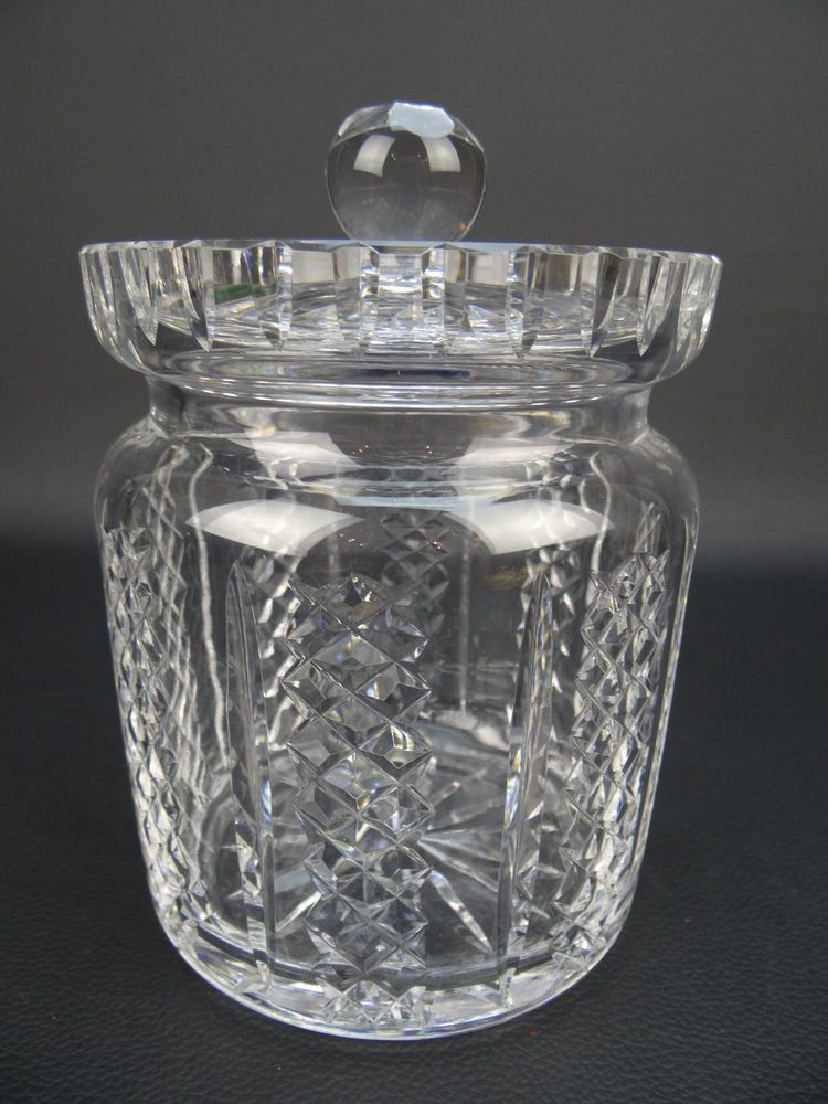 Details About Waterford Crystal Covered Ginger Jar Lid Gothic Mark Ireland Biscuit Barrel Waterford Crystal Crystals Barrel