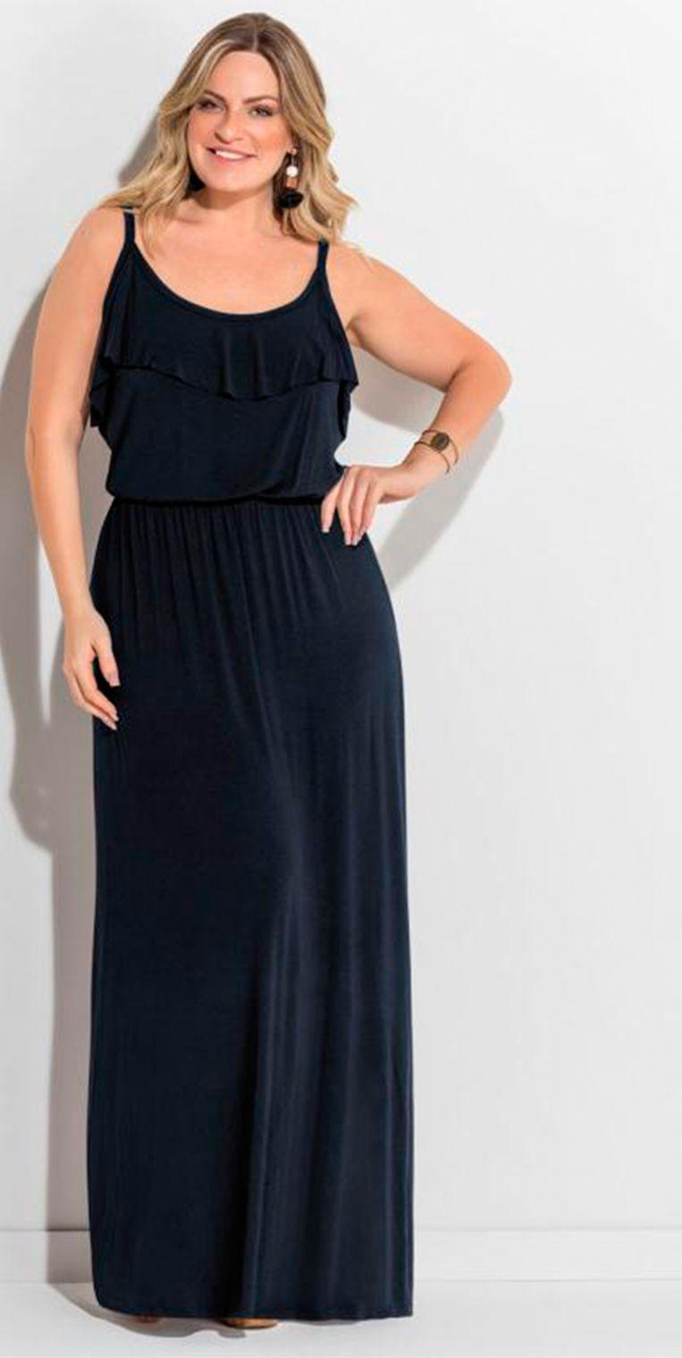 3b68be3c98 Vestido longo de alças preto permite você criar um look arrasador ...