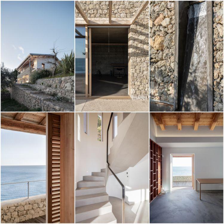 Architecture En Pierre Ou Le Minimalisme Au Bord De La Mer
