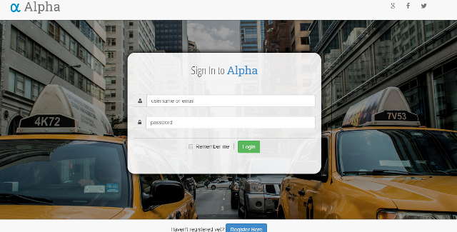 Alpha Authentication Form Is A Bootstrap Login Template Alpha