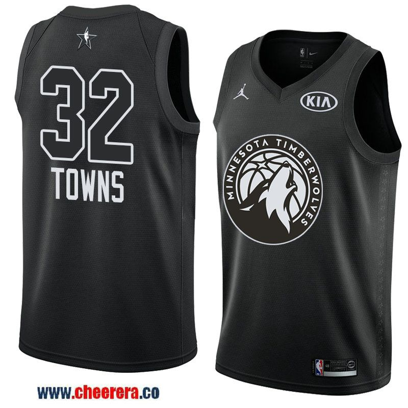 men s eastern conference minnesota timberwolves  32 karl-anthony towns  black 2018 nba all-star jersey 0c5d84a8d