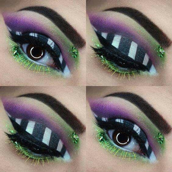 Beetlejuice eye makeup | Make me over | Pinterest | Beetlejuice ...