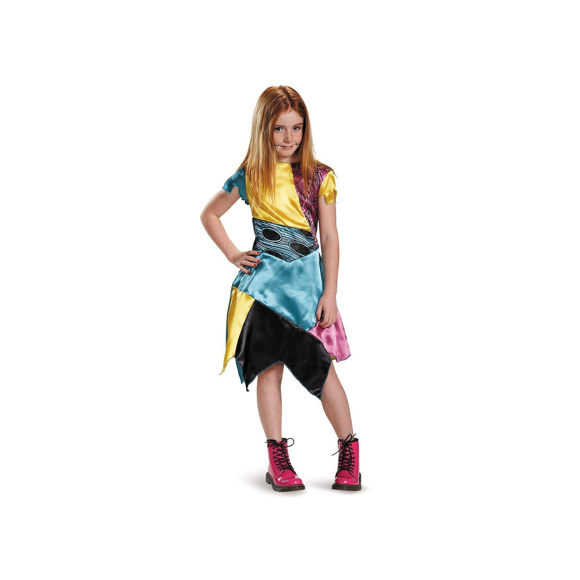 Kids Nightmare Before Christmas Sally Costume, Girl\'s, Size: Medium ...