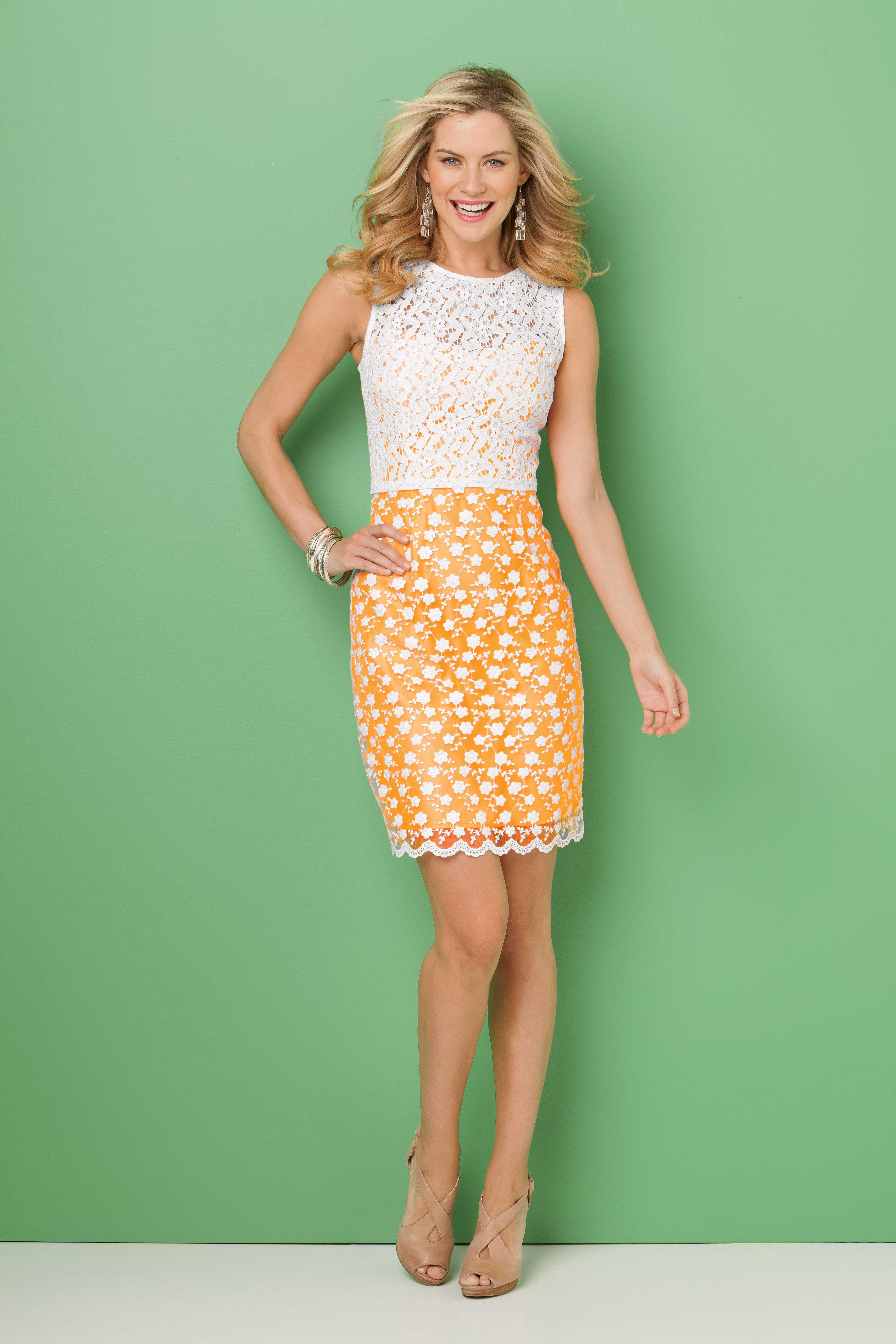 Two Tone Crochet Dress For Fabulous Steinmart Clothes For Women Fashion Womens Dresses [ 5616 x 3744 Pixel ]