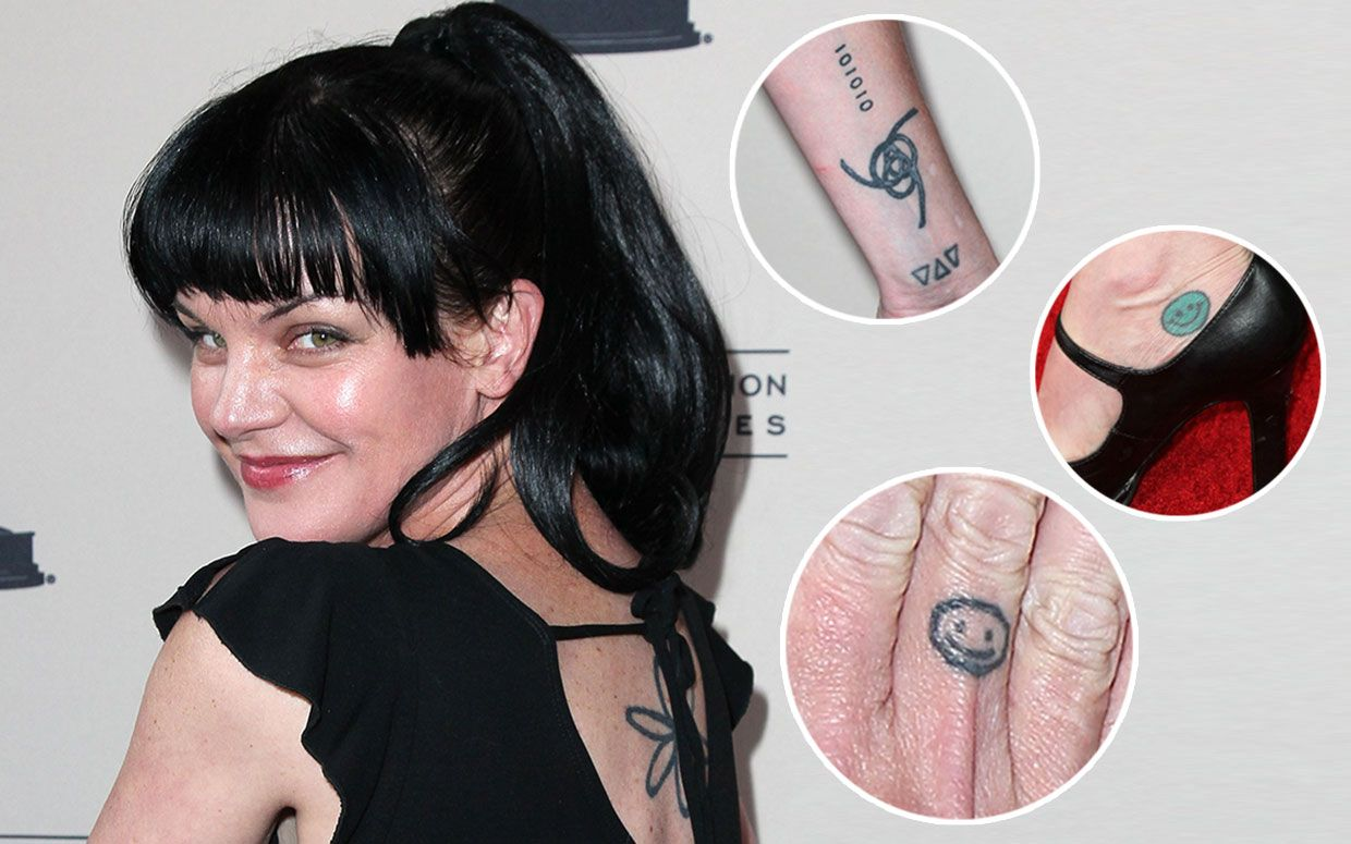 Pauley perrette 39 s tattoos real or just for ncis ncis for Ncis abby tattoo