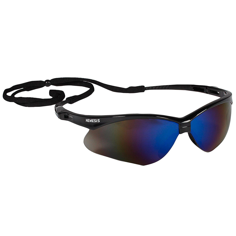 V30 Nemesis Black Frame with Blue Mirror Lens Glasses